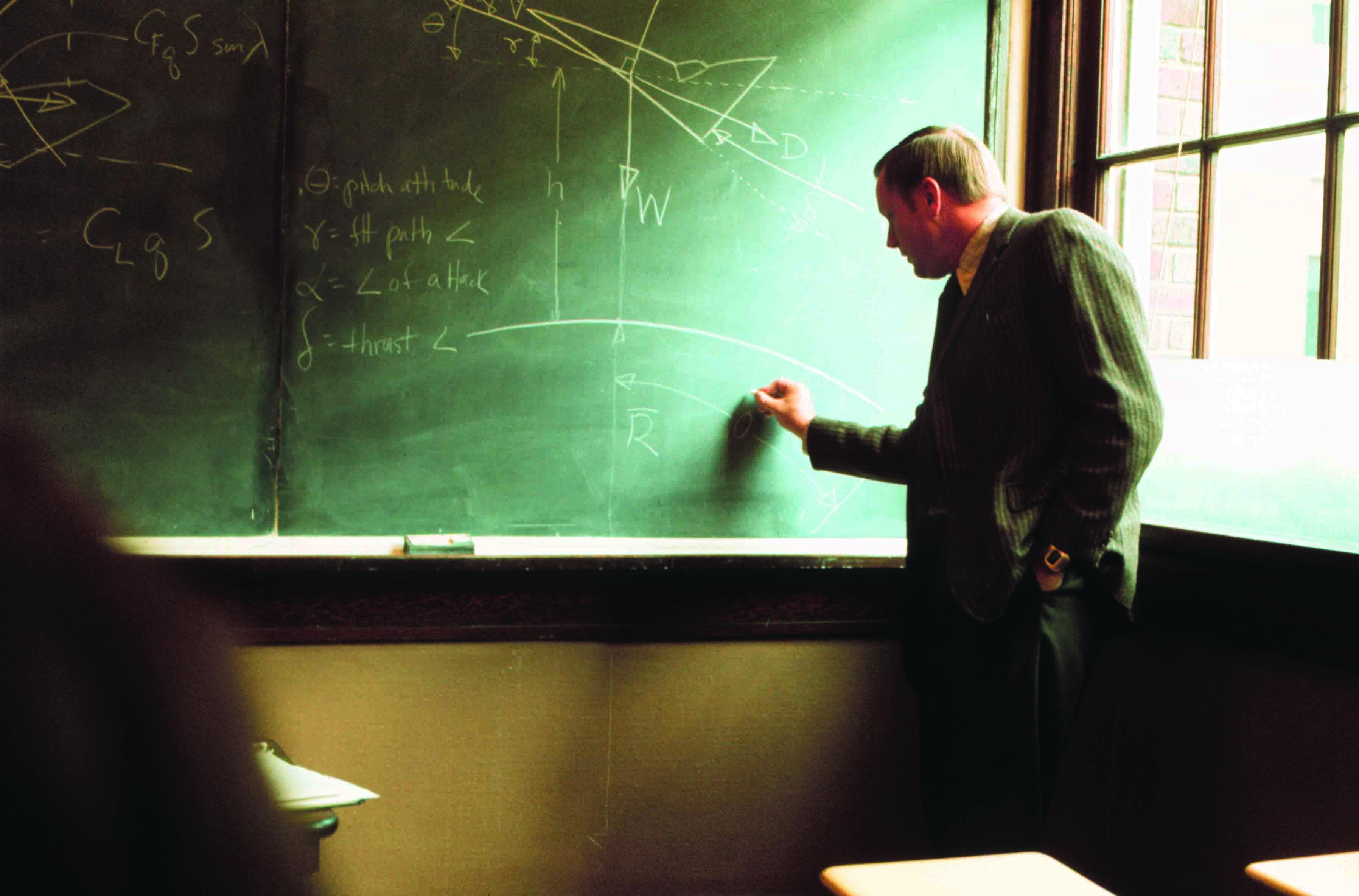 Professor Teaching Blackboard