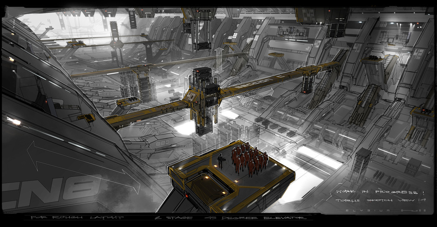 George Hull's concept art for movie 'Elysium', University ...