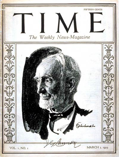 The first Time cover from 1923