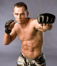 Rich Franklin in his fighting gear.