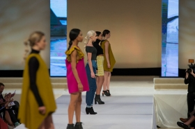 Models display student designs at the 2017 DAAP Fashion Show