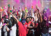 Holi Festival at UC's McMicken Commons