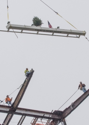 Nippert Stadium Final Beam Ceremony