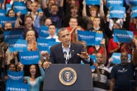 President Barrack Obama campaigned at the University of Cincinnati days before being re-elected president in 2012.