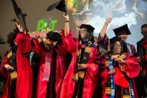 UC students celebrate at 2017 Tyehimba, the 26th annual Afro-centric graduation celebration.