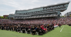Nippert Stadium full of grads and guests
