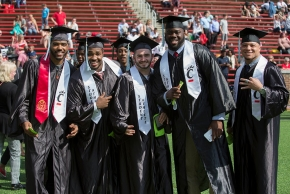 Student athletes at Commencement