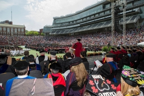 Shot of Commencement from the stage