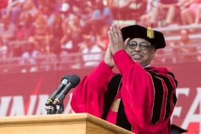 UC President Neville Pinto at Commencement