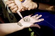 Henna designs.