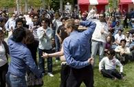 Dancing at worldfest.