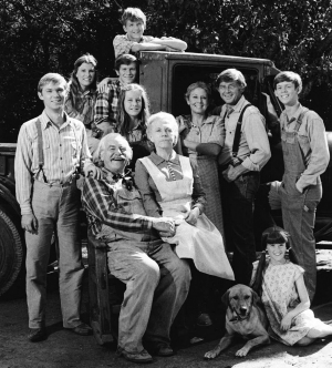 "The cast of the television show ""The Waltons"""
