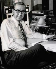 Stan Matlock at the radio control panels in the 1960s