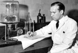 UC chemistry professor George Rieveschl in his lab