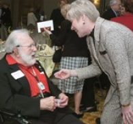 S. Ted Isaacs with former UC president Nancy Zimpher