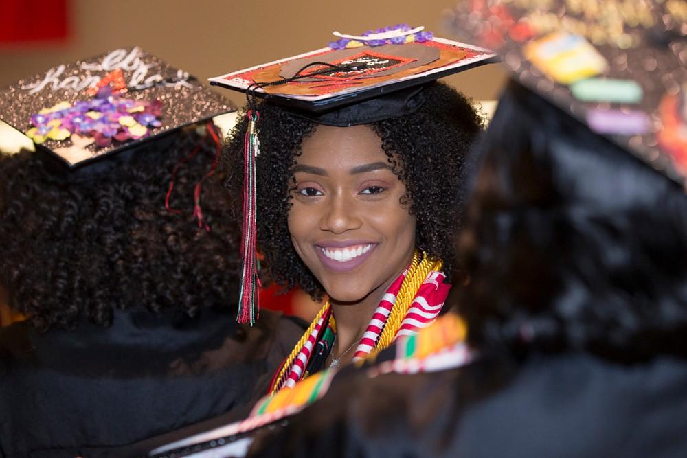 A female graduate.