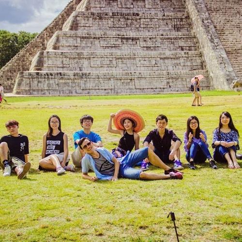 Visiting Mexico.