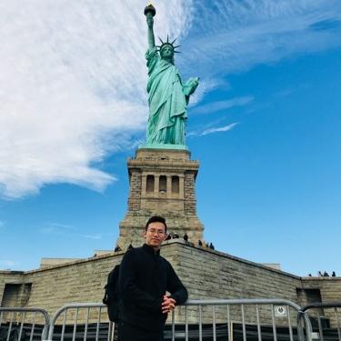 Visiting Liberty Island.