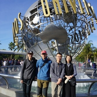 Visiting Universal Studios Hollywood.