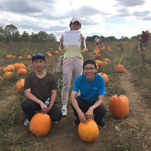 Visit to a pumpkin patch.