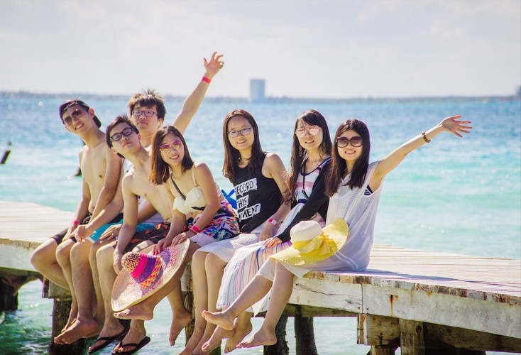 UC students spent free time traveling to places like Cancun, Mexico.