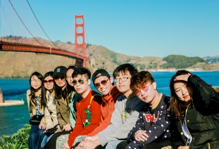 UC engineering students from China used their time in America to travel to places like San Francisco.