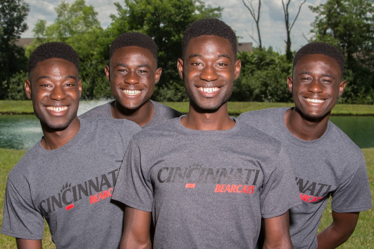 The Mantey boys, two sets of twins at home