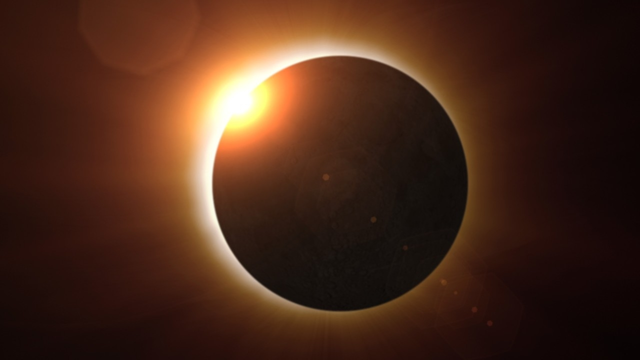 A solar eclipse. (NASA)