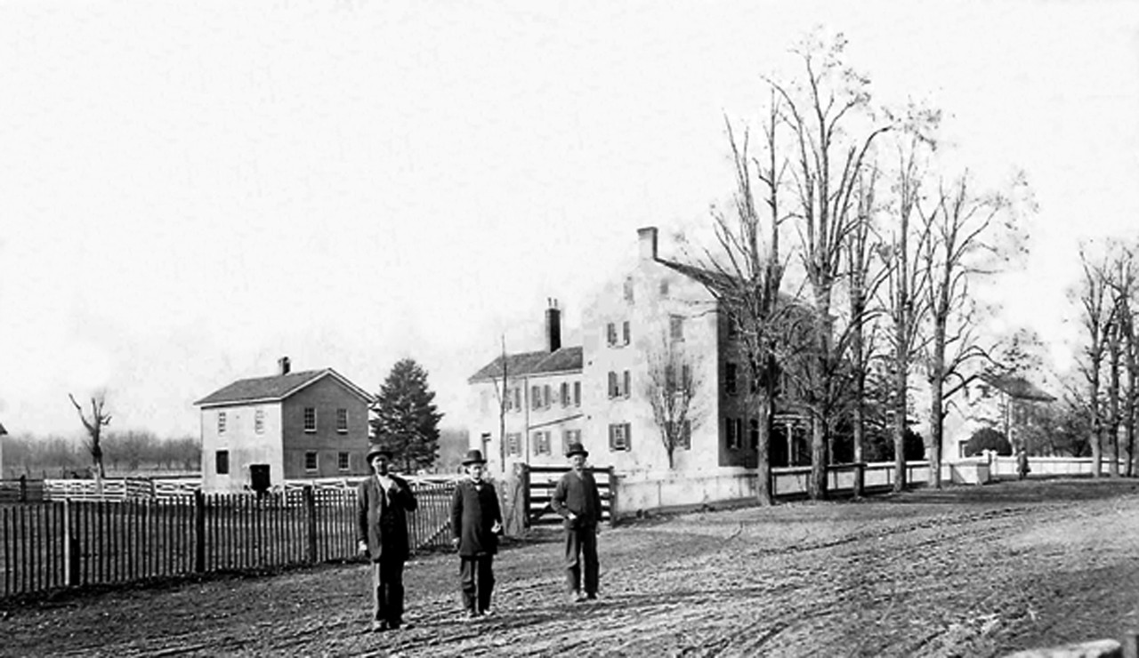 The Shaker farm as it appeared in the late 1800s.
