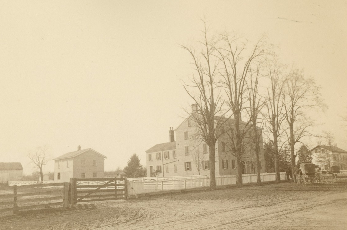 The former Shaker farm from the late 1800s.