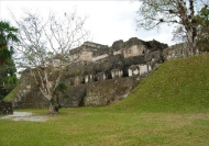 Residential palace of the great lords of Tikal in the Central Acropolis facing the Great Plaza.