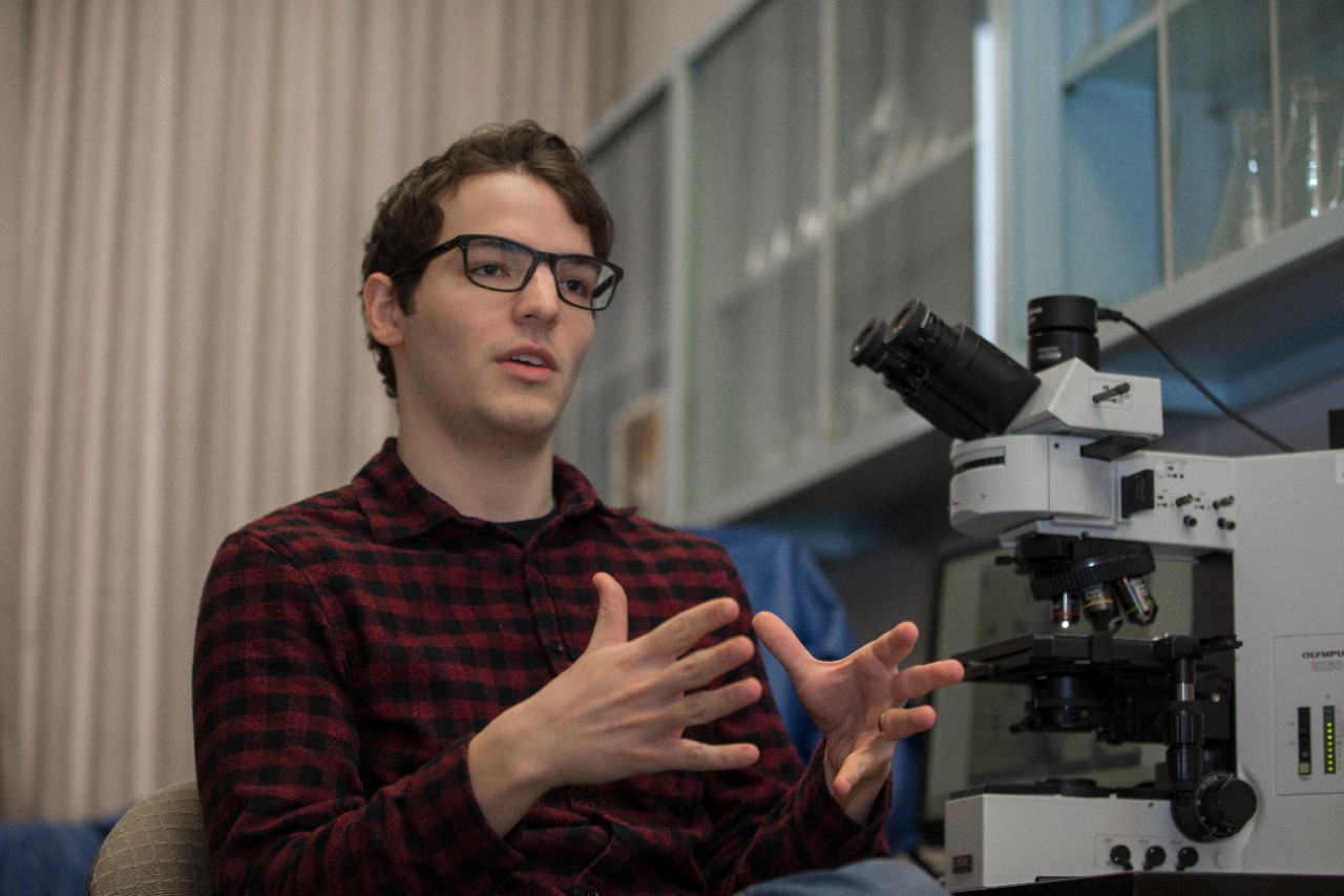 UC student Andrew Gangidine is looking for an elemental marker that could help NASA identify ancient life on Mars during its upcoming Mars 2020 mission.