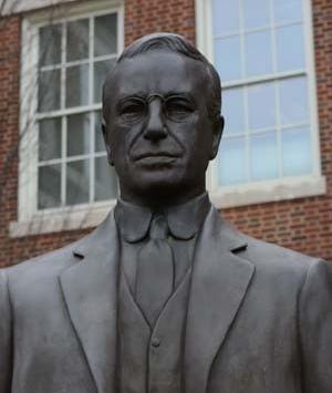 A bust of UC co-op founder Herman Schneider