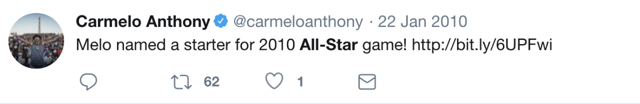 Carmelo Anthony tweet 3
