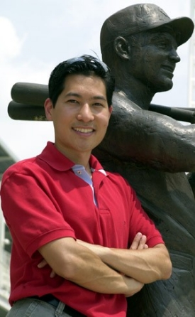 Tom Tsuchiya at the Reds ballpark
