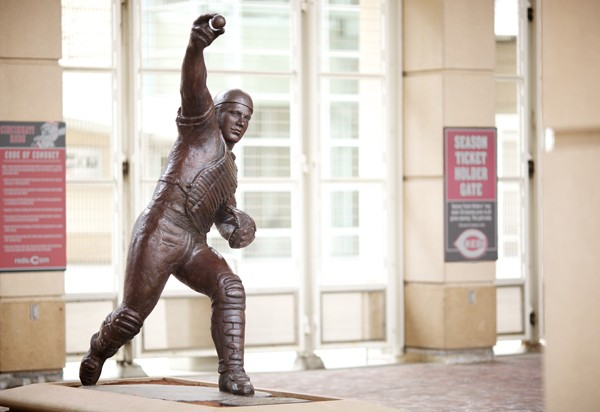 A model of Tsuchiya's sculpture of Johnny Bench.