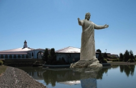 Rendering of Jesus statue for Solid Rock Church