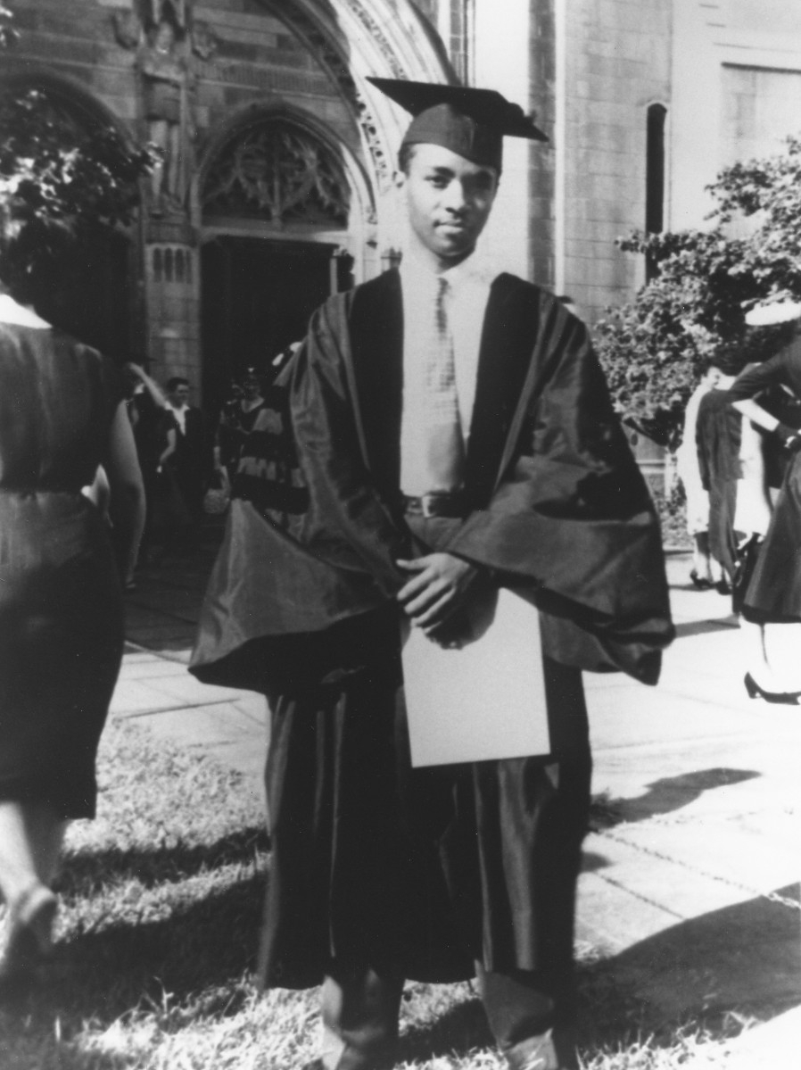 Darwin T. Turner in his graduation cap and gown