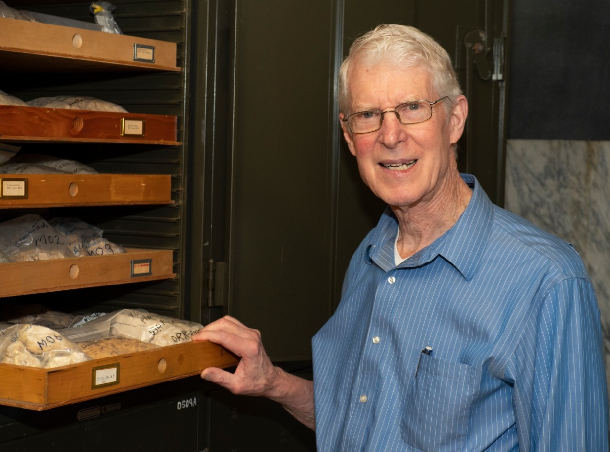 Geology professor Warren Huff is retiring this year after 59 years at UC as a student and faculty member.