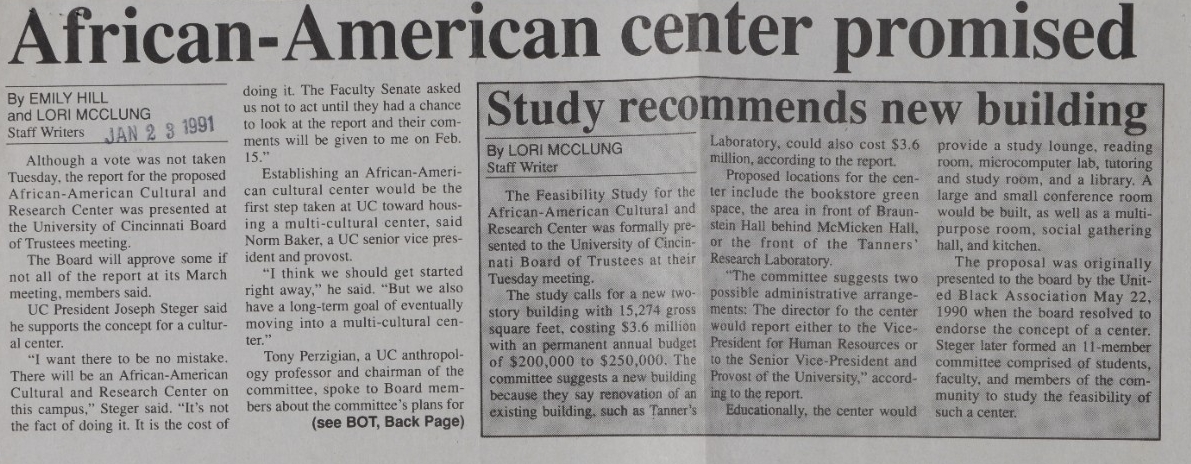African-American center promised