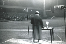 After receiving a signal from the White House, Larry MacPhail flipped a switch, and 632 floodlights illuminated a major league stadium for the first time in history.