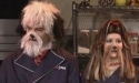 Jennifer Lawrence and another Saturday Night Live Actor are dressed as dogs for an episode.
