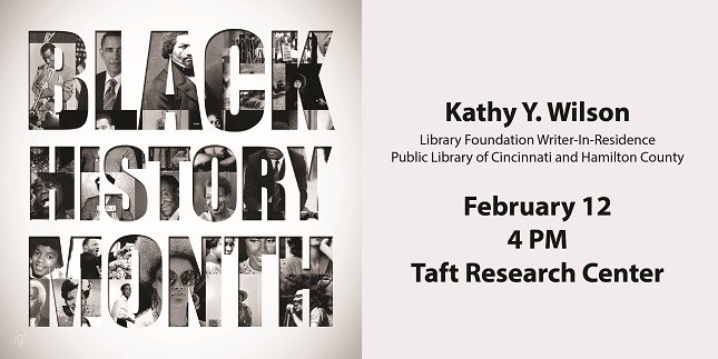 Poster for Black History Month featuring Kathy Y. Wilson