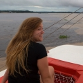 Student on boat