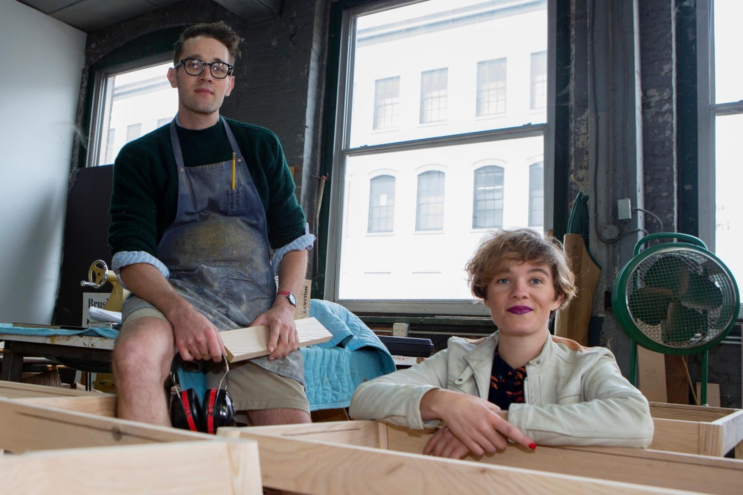 Brush Factory founders Hayes Shanesy and Rosie Kovacs. photos/Joseph Fuqua II