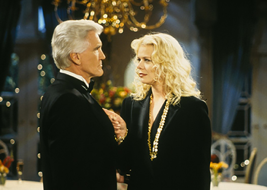 David Canary on ABC's All My Children as Adam Chandler with actress Marcy Walker, who played Liza.