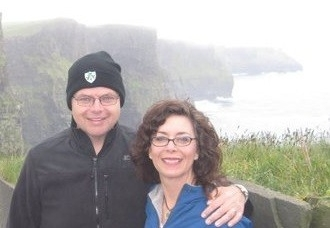 David Caudill and his wife Shelley stand at at the Cliffs of Maher in Ireland