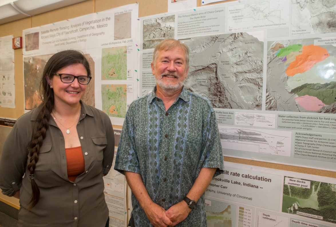 UC research associate Samantha Fladd, left, an UC geography professor Nichoals Dunning are part of a multidisciplinary research team examining Chaco Canyon.