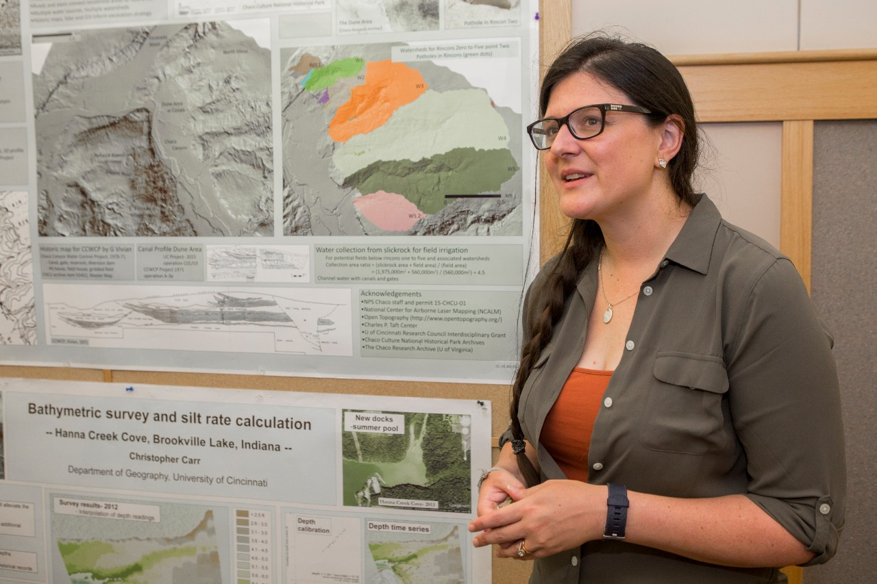 UC research associate Samantha Fladd said her work in Chaco Canyon gave her an appreciation for the ingenuity of people who lived in Chaco Canyon 1,000 years ago.