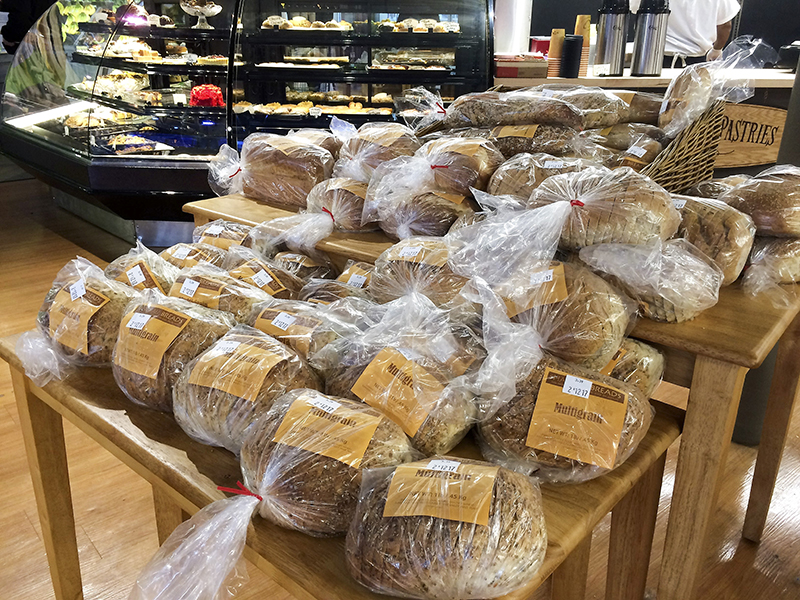 A display of artisan breads